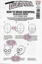 Gwenpool Comic Issue 21 Limited How To Draw Variant Modern Age First Print 2017