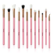 12Pcs Makeup Brushes Blusher Powder Eyeshadow Eyeliner Lip Nice Pink Tool Set
