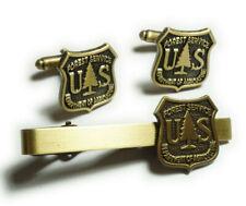 US Forest Service USDA Department of Agriculture Ranger TIE BAR CUFFLINKS SET