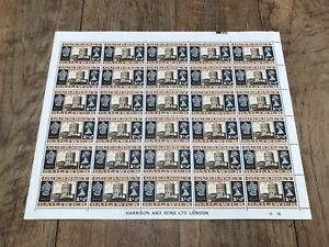 Guernsey Bailiwick 1 1/2d Stamps (full un-used sheet of 30 stamps)