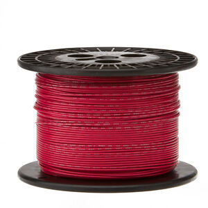 """18 AWG Gauge Solid Hook Up Wire Red 500 ft 0.0403"""" UL1007 300 Volts"""