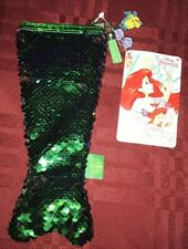 Disney Store The Little Mermaid Sequined Ariel Pencil Case/Coin Purse/Cosmetic