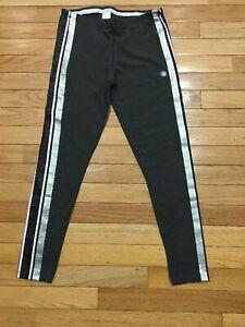 Girls' Glitter Leggings XL 14-16 yrs Black Gold Pink Striped Gray elastic waist