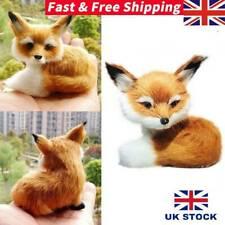 1Xsimulation Sitting Fox Stuffed Animal Soft Plush Kids Toys Holiday Gifts Decor
