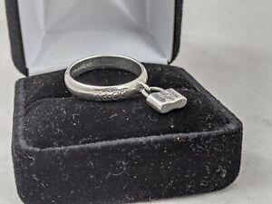 Tiffany & Co. 925 Silver Padlock Lock Ring