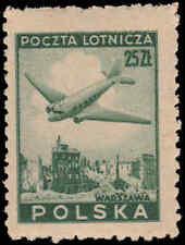 Scott # C17 - 1946 - ' Douglas Plane over Ruins of Warsaw '