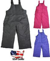 Weathertamer Toddler & Girls Adjustable Shoulder Strap Bib Pant Snowpants