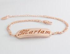 Nome Bracciale MARIAM 18ct Rosa Placcato Oro Compleanno Matrimonio Damigella