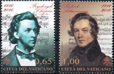 Vatikan Vaticano 2010 Chopin und Schumann Satz Nr. 1677 - 1678 ** MNH
