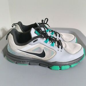 Nike Air Velocitrainer Mens Size 11.5 Running Shoes White/Green Low Top Sneakers
