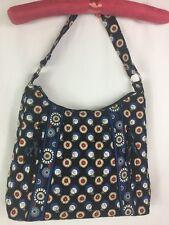 Vera Bradley Night OWL Blue Print Quilted Shoulder Bag Purse Handbag