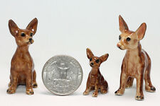 Chihuahua set Miniature Ceramic Animals Figurine,Collectibles,terrarium dogs