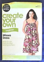 Simplicity It's Sew Easy Pattern Casual Summer Dress Misses Size 6-16 (2 Styles)