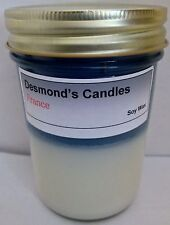 Desmond's Candles Homemade Scented France (Blueberry, Vanilla) Soy Jar Candle