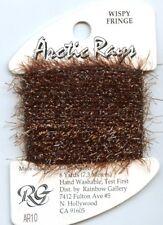 Rainbow Gallery Arctic Rays #Ar10 Brown Sparkly Wispy Fringe Yarn Thread 8yds