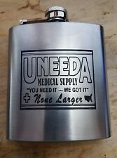 return of the living dead themed UNEEDA MEDICAL SUPPLY hip flask