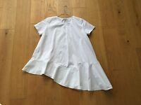 COS Gr.M 38 Bluse Top T-Shirt asymmetrisch weiß Panel Popeline Baumwolle NEU!