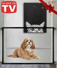 Queenii Magic Gate per cani, Dog Gate, Pet Gate di sicurezza, Mesh portatile pieghevole