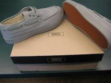 "GENERIC SURPLUS BOAT SHOES BY OBEY CANVAS MEN'S 7 GRAY NEW IN BOX  ""MAN PRODUCT"""