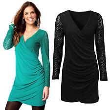 Women's V Neck Plus Size Long Sleeve Dresses