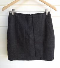 Country Road Women's Short Grey Skirt with Pockets - Size XXS