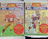 1990 SCORE NFL FOOTBALL Lot of (2) UNOPENED PACK SERIES 2 (Possible Seau RC)