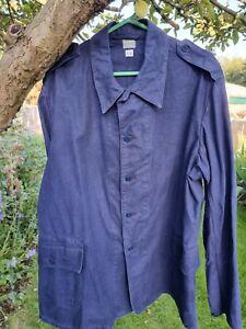 Vintage Swedish Army Or Navy Blue Work Jacket Chore Coat, size C58 UK 46.
