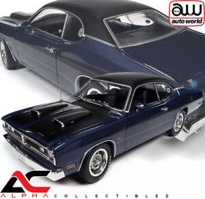 PRE AUTOWORLD AMM1255 1:18 1971 DODGE DEMON (FC7 PLUM CRAZY PURPLE) CLASS 1971