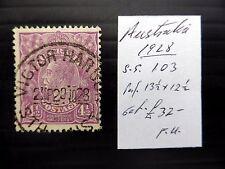Australia 1928 G.V - COME DESCRITTO fine/USATO fp9426