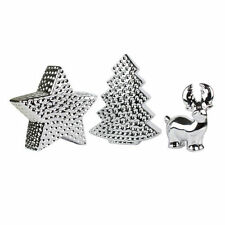 Figuras decorativas de color principal plata de plata para el hogar