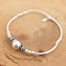 925 Sterling Silver Bali Beads Stretch Bracelet Jewellery
