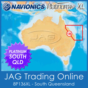 NAVIONICS PLATINUM PLUS CHART 8P136XL SOUTH QUEENSLAND - GPS MAP SONAR LAYERS