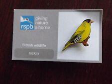 RSPB GNaH siskin Metal Pin Badge on FR Card