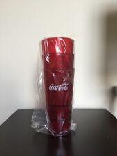 New (3) Coke Coca Cola Restaurant Red Plastic Tumblers Cups 16oz Carlisle