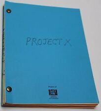 Project X * 1985 Original Movie Script * Matthew Broderick & Helen Hunt Sci-Fi