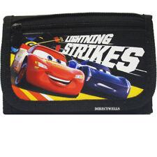 Disney Car Authentic Licensed Canvas Trifold Black Wallet for Children