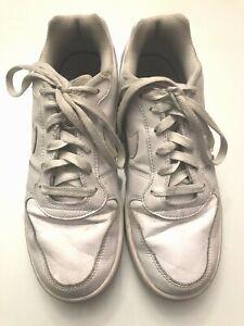 Nike Women's Court Borough Low Casual Shoes Triple White 844905-110 Size 9