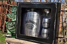 Jack Daniels 6 oz Barrel Hip Flask - Shot Glass - Funnel - Gift Set - Embossed