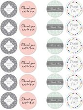 Thank You Edible Cupcake / Fairy Cake Wafer Paper Toppers x 24
