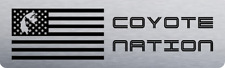 2018+ Mustang Aluminum Radiator Plate - [18FM_RP_S1] COYOTE NATION SILVER