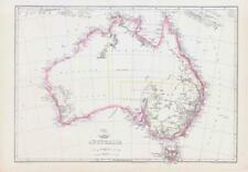 More details for 1863 large antique map australia by edward weller (da215)