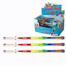 4 X SWAP POINT CRAYONS, COLOURING, CHILDRENS PARTY BAG FILLER, FUN