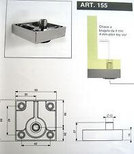 piedino per mobile in metallo verniciato opaco cm.6x6 alto 1,6 cm regolabile