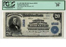 1902 $20 National Banknote PB Citizens NB Hornell, NY Ch# 2522  PCGS 20  20-C708