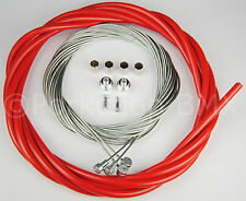 Bicycle 5mm LINED vintage ROAD bike brake cable housing kit  - RED