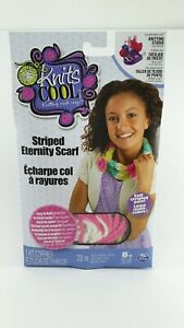 Knit's Cool Children's Yarn Knitting Years Eternity Scarf Project Kit Easy Knit