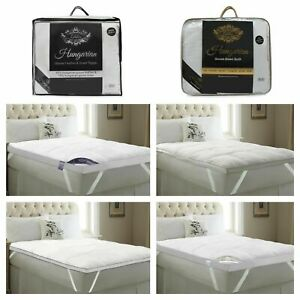 """Feather & Down Mattress Topper Luxury 2""""/5"""" Depth Extra Filled Toppers All Sizes"""