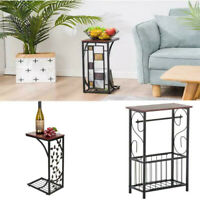 C-shaped Side Sofa Table Coffee Tray Living Room Console Stand End TV Lap Snack