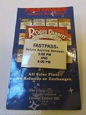 Disney WDI Fast Pass Roger Rabbit's Car Toon Spin Pin