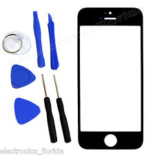 Black Front Outer Glass Screen Lens Replacement For iPhone 5 5C 5S 4 4S & Tools